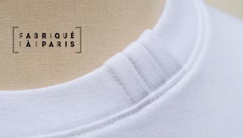 T-shirt made in France coton biologique certifié Gots PhilippeGaber fabriqué à Paris depuis 2009