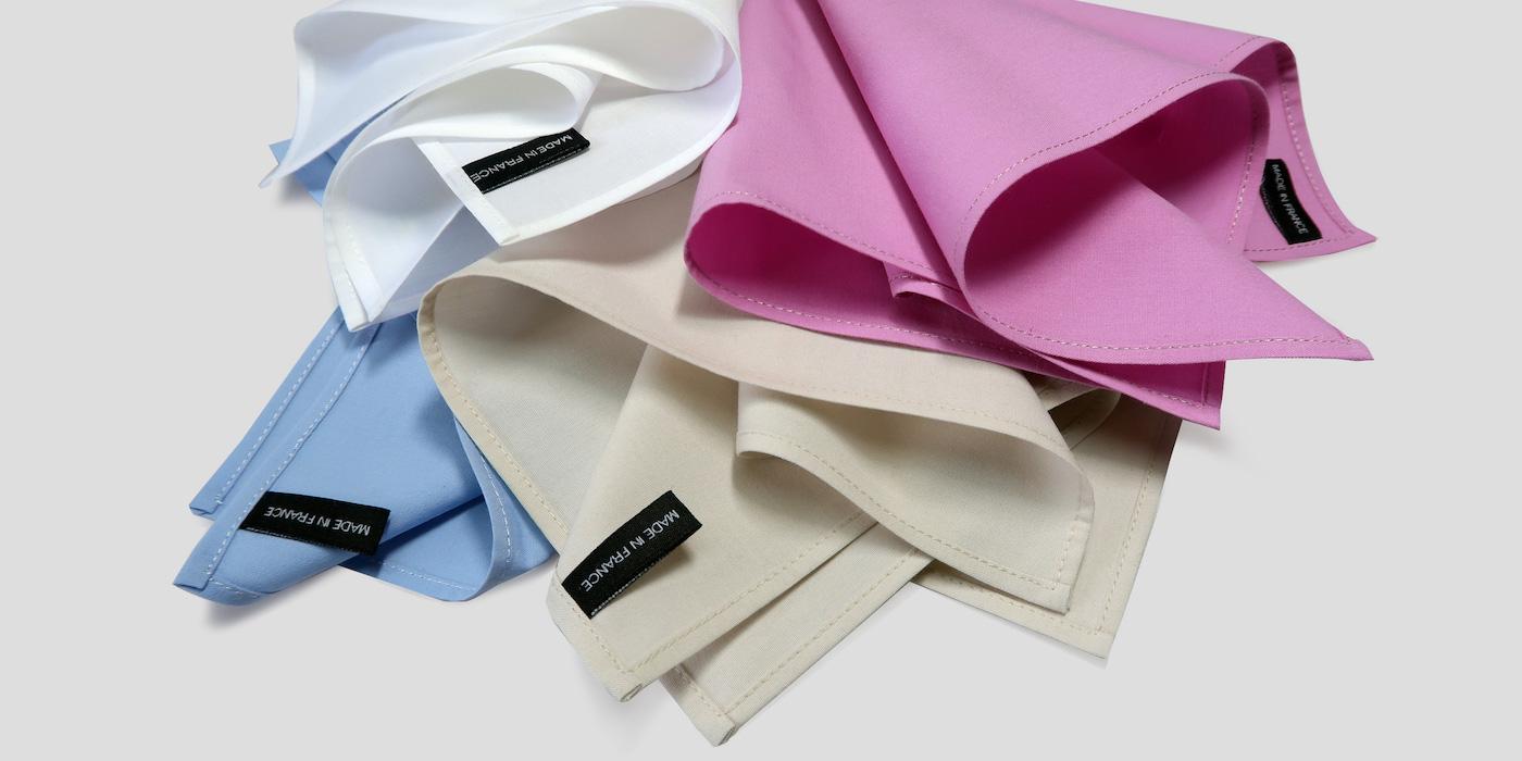 mouchoirs français en coton bio certifié Gots Philippe Gaber mouchoirs made in France
