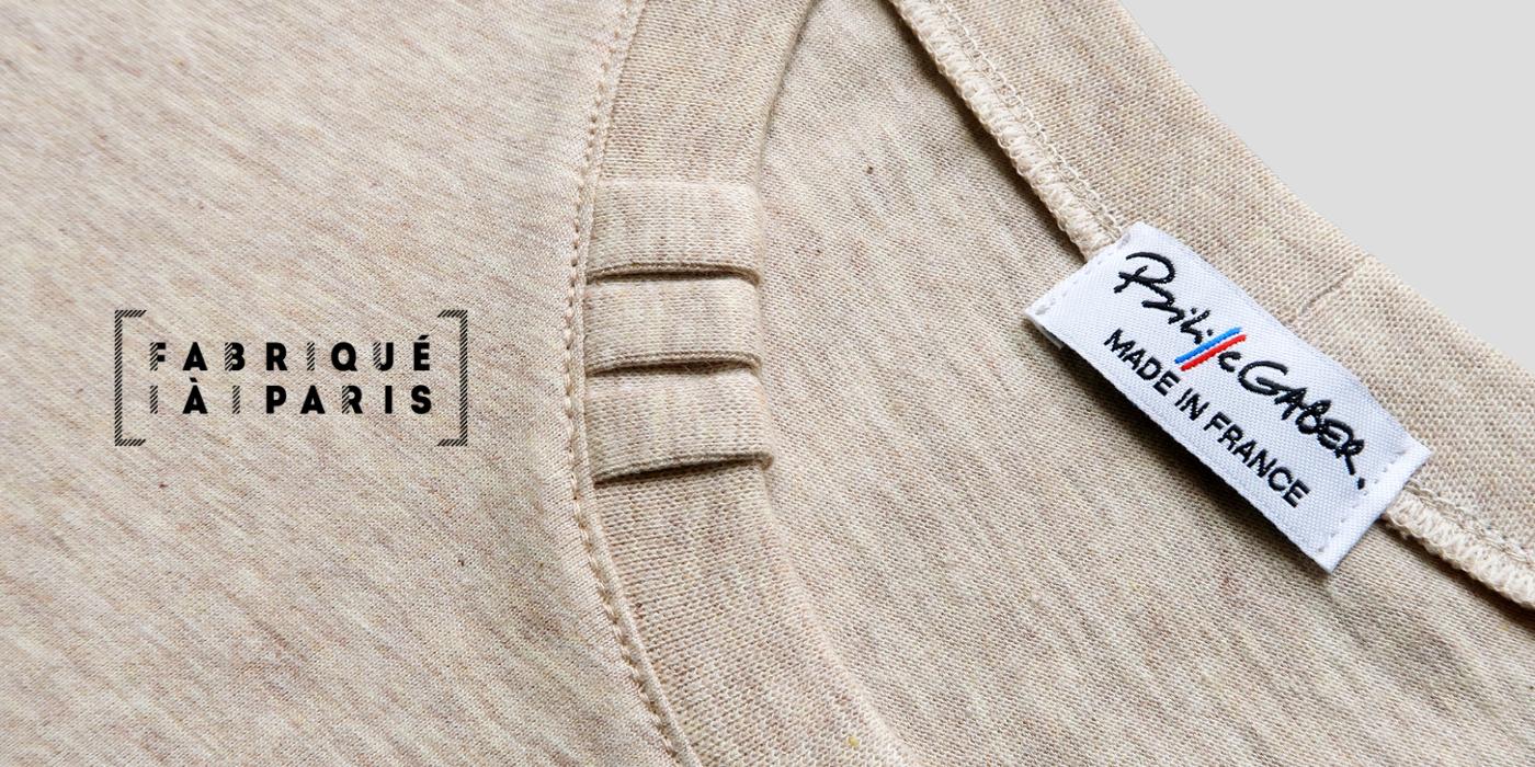 t-shirt coton bio 3 plis PhilippeGaber lauréat du label Fabriqué à Paris décembre 2018