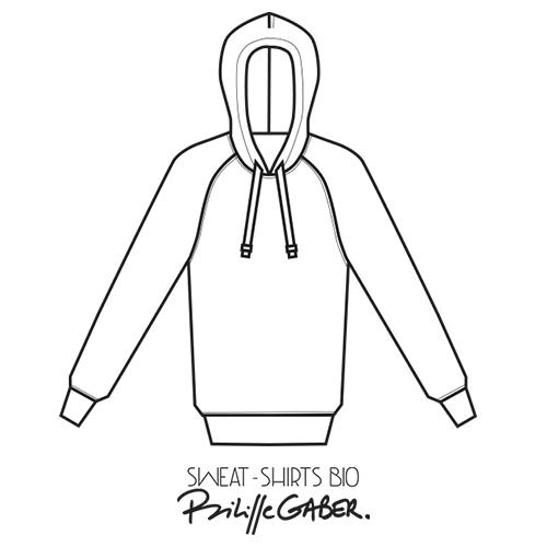 Sweat-shirt Made in France en coton biologique certifié Gots label fabriqué à Paris PhilippeGaber