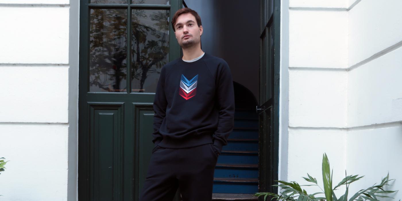 Sweat-shirt bio Made in France fleur de coton Gots sweat-shirt français homme et Femme  fabriqué à Paris par Philippe Gaber