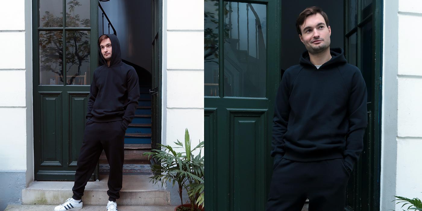 Sweatshirt bio Made in France Philippe Gaber sweat capuche dans 100%  coton biologique pour l' Homme et la Femme fabriqué avec éthique à Paris par PhilippeGaber