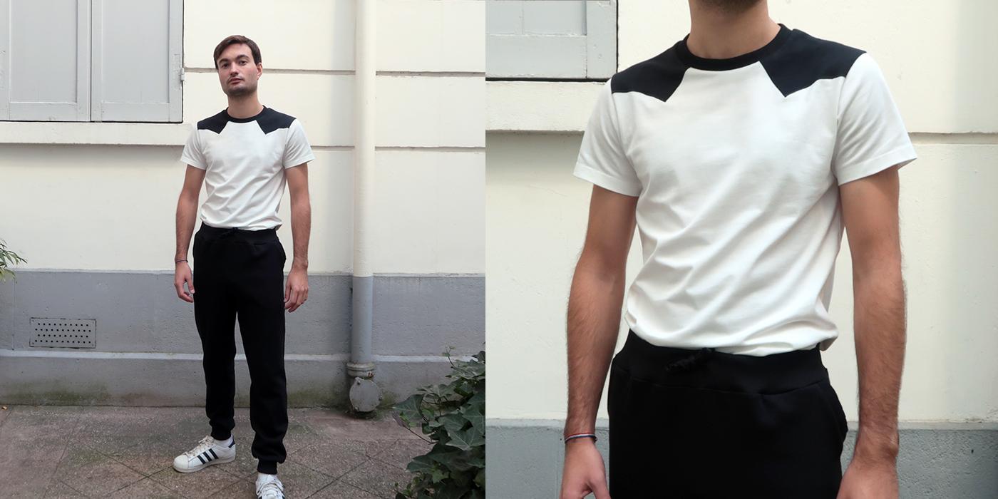 T-shirt Made in France et Bio, T-shirt bio fleur de coton bio certifié Gots pour l'homme et la femme, une mode éthique fabriqué à Paris par Philippe Gaber