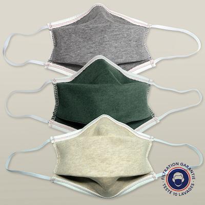masque en coton biologique catégorie 1 filtration supérieure à 90% PhilippeGaber